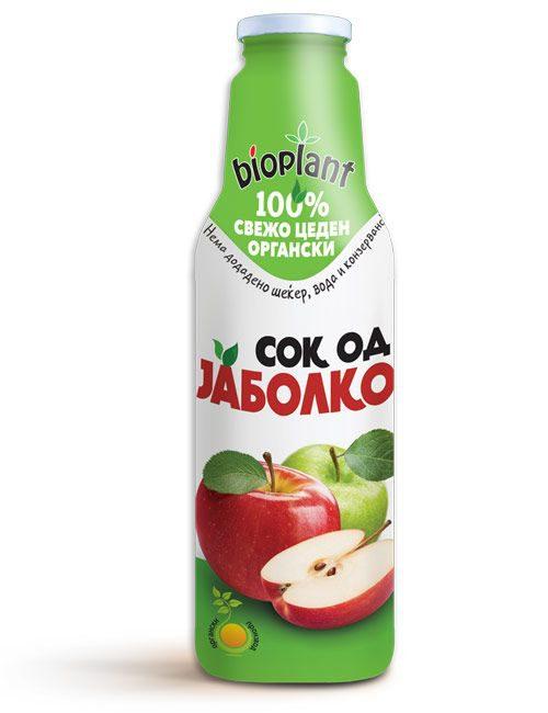 Биоплант органски сок од јаболко 750 ml