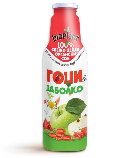 Биоплант органски сок од гоџи и јаболко 750 ml