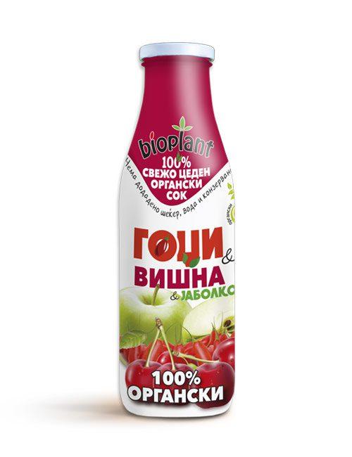 Bioplant organski sok od goji jabolko i visna 250ml