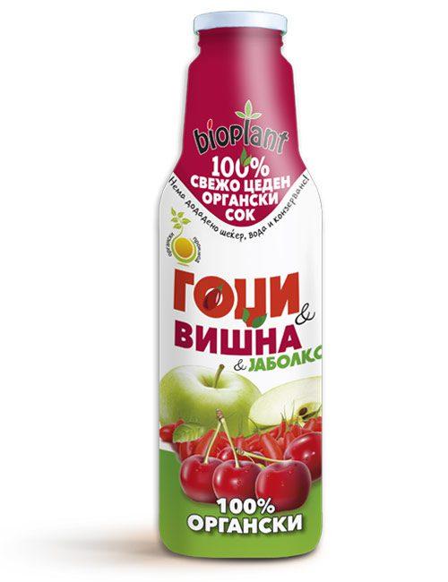 organski sok od goji jabolko i visna 750ml