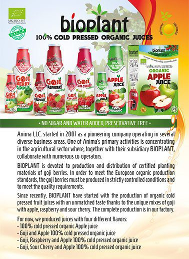 Bioplant products catalog