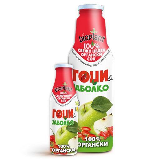Биоплант Органски сокови од Гоџи и Јаболко