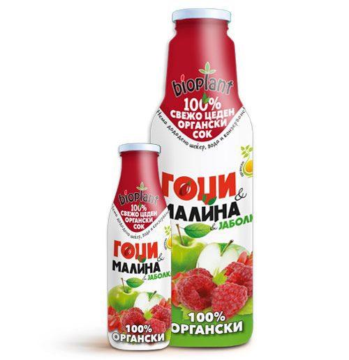 Биоплант органски сок од Гоџи и Малина