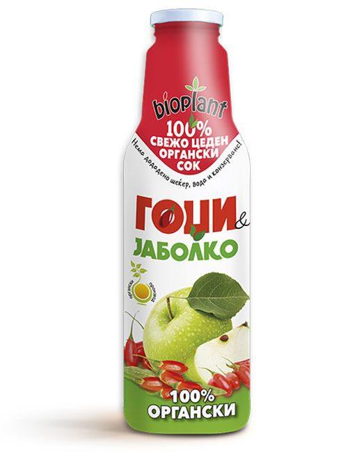 Bioplant органски сок од гоџи и јаболко 750ml