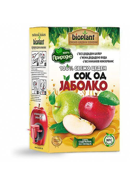 Биоплант природен ладно цеден сок од јаболко