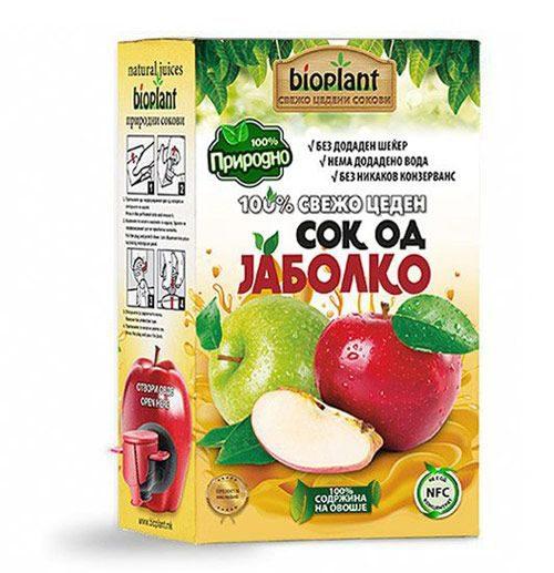 ладно цеден придоден сок од јаболки