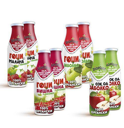 комбо пакет од органски сокови