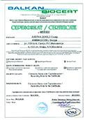 Organic production certificate